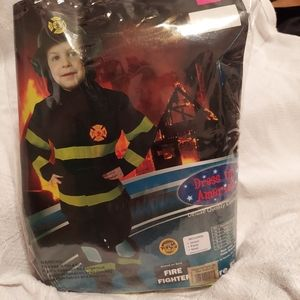 Fire Fighter Deluxe Costume Sz Small (4-6)